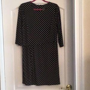 Ann Taylor polka dot dress size Large petite
